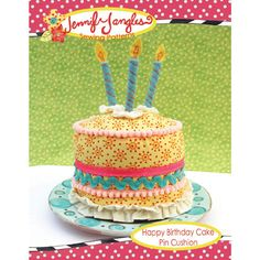 Happy Birthday Cake Pin Cushion