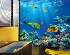 Photo wall mural UNDERWATER WORLD 300x280 Wallpaper Wall art Wall decor Fishes