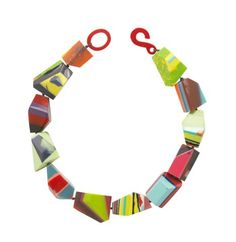 Colorful plastic necklace by Marion Godart Paris