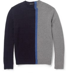 Alexander Wang Panelled Merino Wool-Blend Sweater | MR PORTER