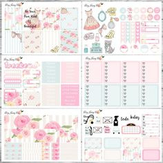 Vintage Beauty Planner stickers / Planner stickers by VeryJennyCo