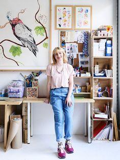 Love this tour of Emily Green's amazing studio.