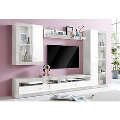 Living Room Wall Units, Living Room Tv Unit Designs, My Home Design, Home Design Decor, Tv Showcase Design, Tv Wanddekor, Wall Unit Designs, Tv Cabinet Design, Tv Unit Furniture