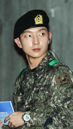 Lee Jun Ki in the military - he looks so good in uniform