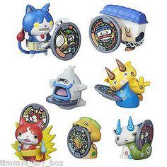 Set of 7: Yo-kai Watch Medal Moments Series 2 Figures  Robonyan, Noway, Komajiro