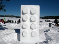 Forget Snowmen | What about A Snow #Lego Brick | Color Me Impressed.