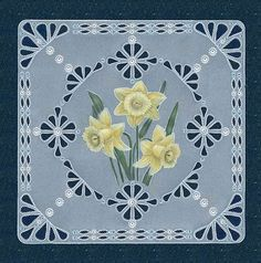 T T 3 daffodils cut corner grid border Vellum Crafts, Parchment Design, Stitching On Paper, Parchment Cards, Pattern Coloring Pages, Newspaper Crafts, Diy Christmas Cards, Craft Patterns, Paper Cards