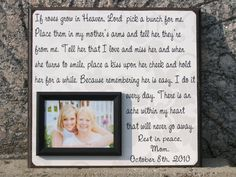 personalized memorial picture frame gift parent in memory of wedding memorial mother