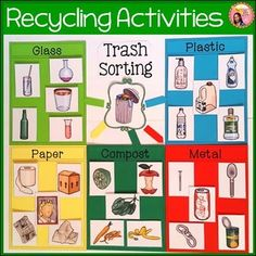Celebrating Earth Day in the Classroom – Teaching Special Thinkers – Popular pins for you 2020 Recycling Games, Recycling For Kids, Diy Recycling, Sorting Activities, Learning Activities, Teaching Ideas, Earth Day Posters, Recycling Information, Bin Labels