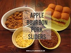 Apple Bourbon Pork Sliders made with #ad Campbell's Sauces