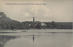 Pumping station from across the pond. 1910.