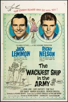 The Wackiest Ship in the Army, 1960 Old Movie Posters, Original Movie Posters, Film Posters, Old Movies, Vintage Movies, Vintage Tv, Movie Photo, Movie Tv, Jack Lemmon