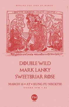 Double Wild // Mark Lanky // Sweetbriar Rose at Kung Fu Necktie - https://www.muvents.com/philadelphia/event/double-wild-mark-lanky-sweetbriar-rose-at-kung-fu-necktie/ - Event Show Time: March 15 @ 8:00 pm -   Double Wild MARK LANKY https://marklanky.bandcamp.com/ Sweetbriar Rose Doors 8pm, Show at 9 $6 // 21+ at Kung Fu Necktie Like this jawn… Flash Mob Productions #PhiladelphiaMusic #MusicPhiladelphia