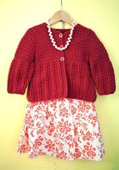 Ellie Crocheted Cardigan in Berroco Comfort DK