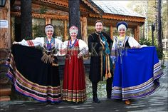 Russia, siberia, near irkutsk, russian folk group in traditional costume