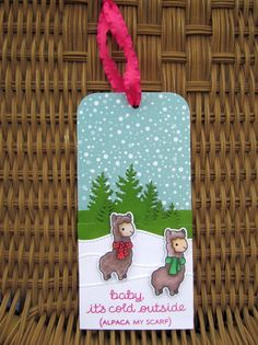Alpaca my Scarf- Tag Day9 by dbarry - Cards and Paper Crafts at Splitcoaststampers. #EllenHutsonLLC #TwelveTagsofChristmas