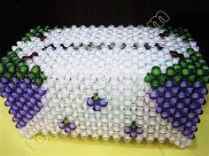acrylic grape beaded tissue box