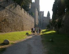 The former moat surrounding now a beautiful walk anytime of day. Greece Rhodes, I Saw, Mount Rushmore, Golf Courses, To Go, Mountains, Awesome, Places, Travel