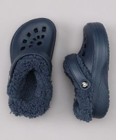 Take a look at this Navy Fleece-Lined Clog by DAWGS on #zulily today!