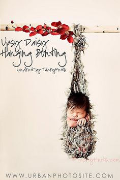 Hanging Bunting baby - it doesn't get any cuter than this!