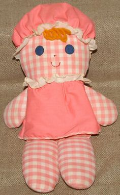 Vintage Fisher Price Pink Lolly Dolly Rattle Doll 1975