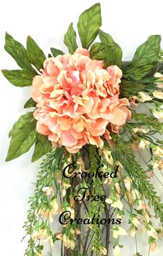 Spring Wreath Hydrangea Wreath Square by CrookedTreeCreation