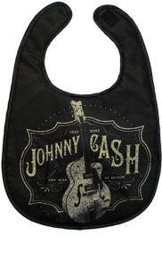 Kiditude - Johnny Cash Baby Bib