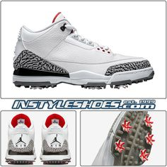 eBay  Sponsored Nike Air Jordan 3 Golf Sz 12 White Cement Cleats Retro  AJ3783- 5b5ff3d0e