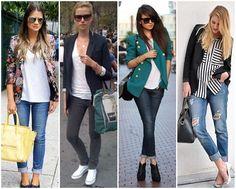 calça jeans com blazer - Blog Sutileza Femimina