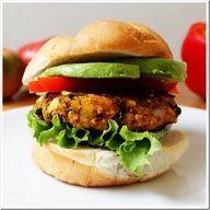Black Bean & Winter Squash Veggie Burger