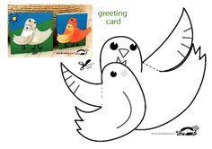 "Make sure you select ""LANDSCAPE"" mode in your printer settings Bird Crafts, Easter Crafts, Paper Birds, Paper Flowers, Printable Crafts, Printables, Summer Crafts, Crafts For Kids, Diy Spring"