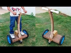 How to Make a Hoverboard with Handle at Home - Segway - YouTube
