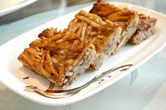 Pan-fried shredded taro cakes @ Dynasty Restaurant