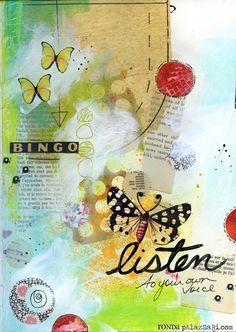 Ronda Palazzari Listen art journal