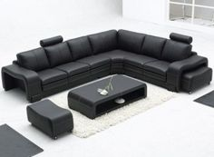 Sofa:Excellent Black Leather Sofa Modern Sofas Los Angeles By Sister Image Of New At Creative 2017 Sofa:modern black sofa:modern sofa Sectional Sleeper Sofa, Leather Sectional Sofas, Black Sectional, Modern Sectional, Black Sofa, Modern Ottoman, Sectional Furniture, Chesterfield Sofa, Sofa Chair