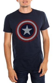 Marvel Universe Captain America Shield T-Shirt Size : X-Small Parade