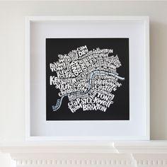 London typo map
