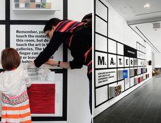 interactive material wall