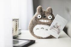 Totoro de pelúcia segurando uma selfie dele tirada com uma instax mini. Essa foto faz parte do post do projeto 6 on 6 do Blog Serendipity de Melina Souza.