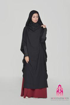 Young tunic, simply wear it to be well dressed! Turban Hijab, Hijab Niqab, Hijab Dress, Abaya Style, Hijab Chic, Moslem Fashion, Modele Hijab, Abaya Fashion, Muslim Women