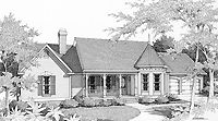 Home Plans HOMEPW17840 - 1,966 Square Feet, 3 Bedroom 2 Bathroom Country Home with 2 Garage Bays