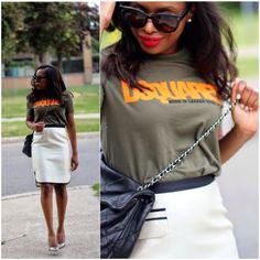 www.awedbymonica.blogspot.com #fblogger #fashionblog #ilovefashionbloggers #styleblog #streetstyle #jcrew #chanel #dsquare #celine  #fashionclimaxx  #mylook #mystyle #aboutalook #truestyle #manoloblahink #t-shirt #pencilskirt #blacksunglasses