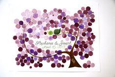 Custom Wedding Guest Book Tree Alternative  175 by OnceUponaPaper