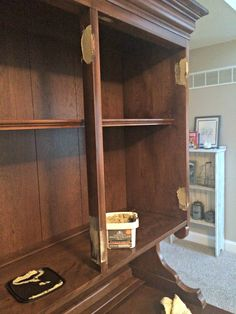How To Paint And Distress A Wood Hutch Wood Filler