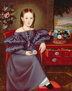 Miss Tweedy of Brooklyn, c.1845 (oil on canvas)