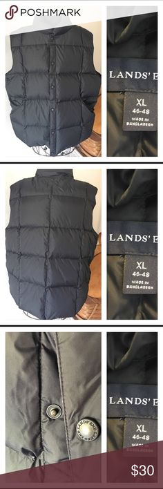 Land's End men's puffer vest This is a men's lands end puffer vest. It is an XL. It has snap buttons and pockets on both sides. Worn but in excellent condition. Like new Lands' End Jackets & Coats Puffers