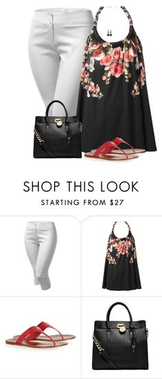 """""""Tory Burch Flip Flops"""" by sherbear1974 ❤ liked on Polyvore featuring J.TOMSON, Givenchy, Tory Burch, MICHAEL Michael Kors and White House Black Market"""