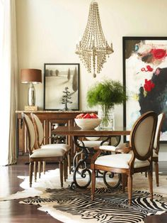 eclectic dining room interior design
