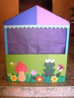 modelos de casinhas de fantoches  Tenho andado pro ai e uma grande dificuldade são as casinhas para os fantoches, ai procurando na inter...