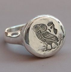 Owl Ring by BlindSpotJewellery on Etsy